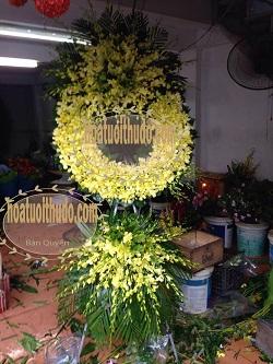 vòng hoa lan vàng tại bv quân y 175