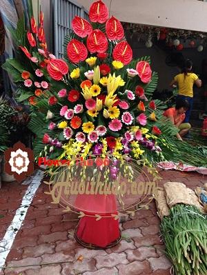 tặng hoa khi dự khai trương