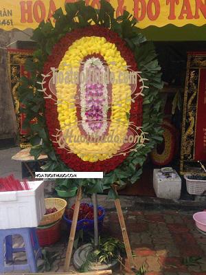 vòng hoa tang lễ tại cầu giấy kiểu ovan